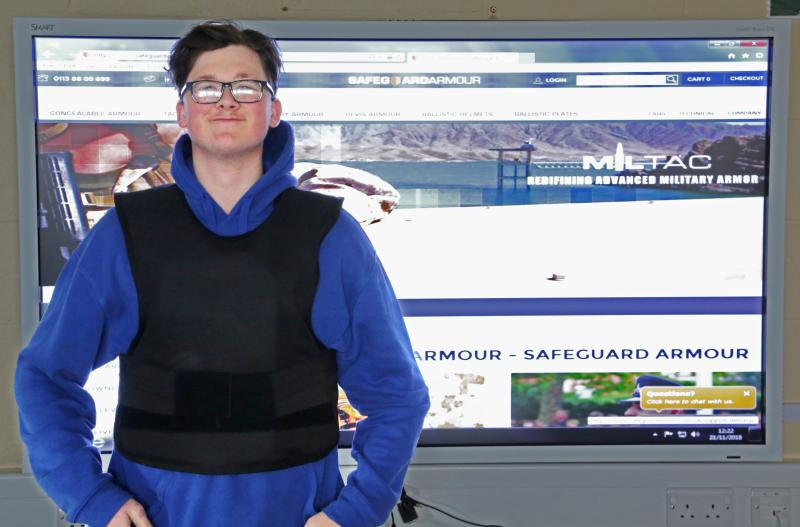 Public Services Department Receive Armoured Vest
