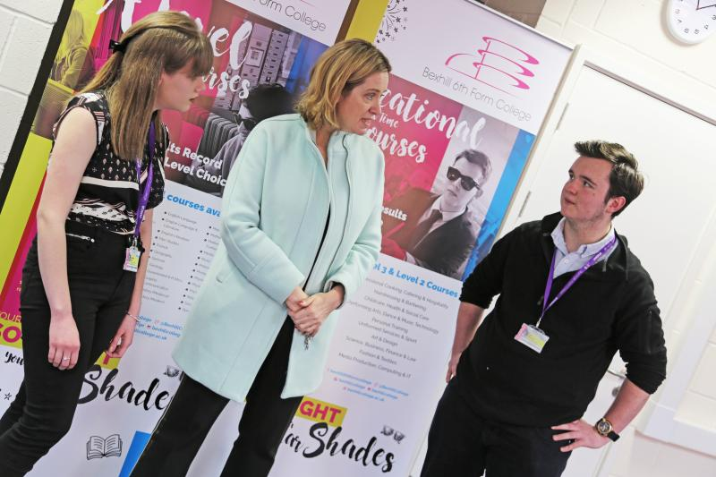Amber Rudd debates with Bexhill 6th Form College students