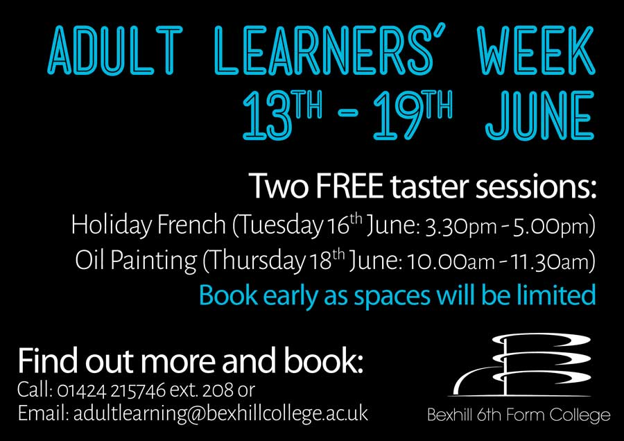 FREE Course Tasters for Adult Learners' Week