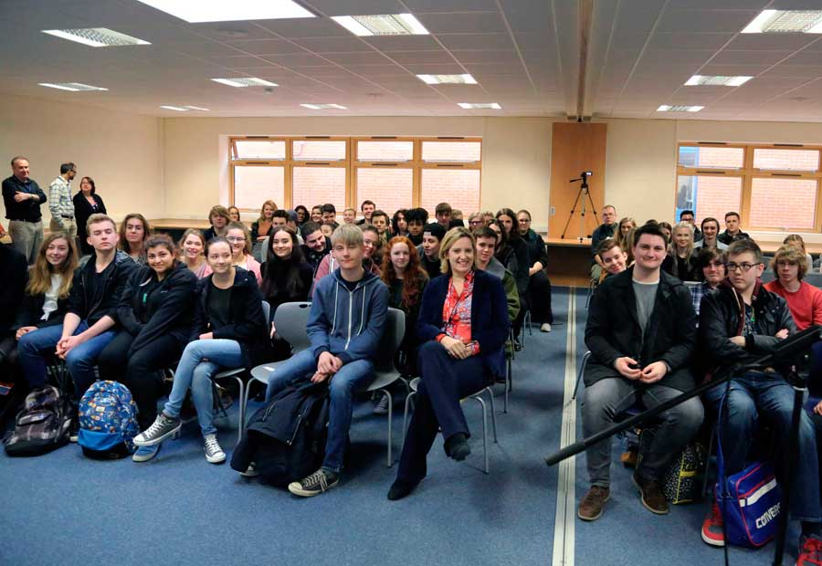 Cabinet Minister Answers Challenging Questions From Bexhill College Students