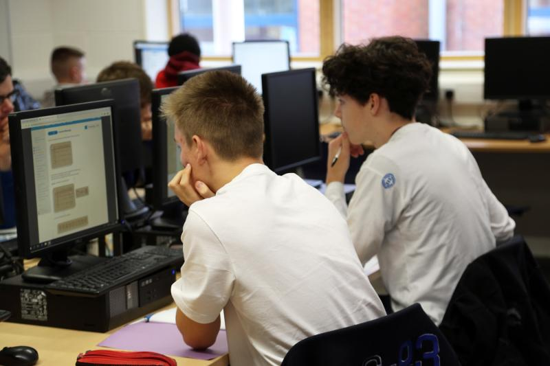 Students compete in the BEBRAS Computing Challenge