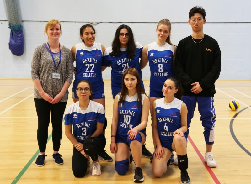Women's Volleyball Academy Compete Against Regional Champions