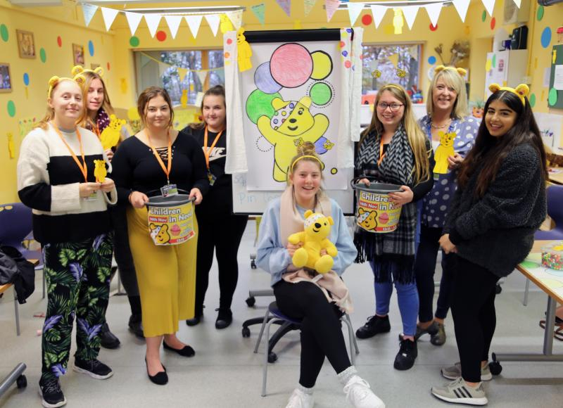 Childcare Department Creates Pudsey Room To Raise Funds