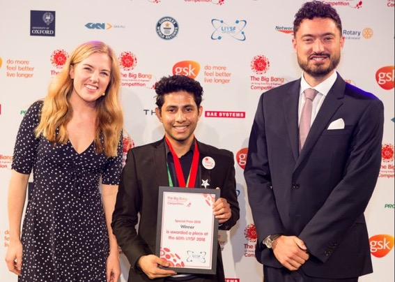 Student Honoured with the London International Youth Science Award