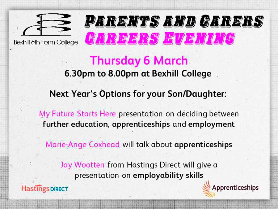 Single Year Parents & Carers' Careers Information Evening