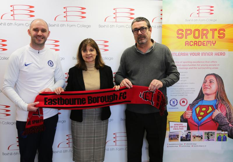 Bexhill College Announces New Major Partnership with Eastbourne Borough Football Club
