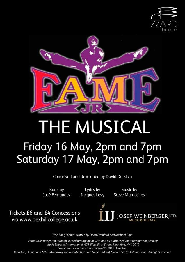 FAME The Musical Comes To Bexhill College