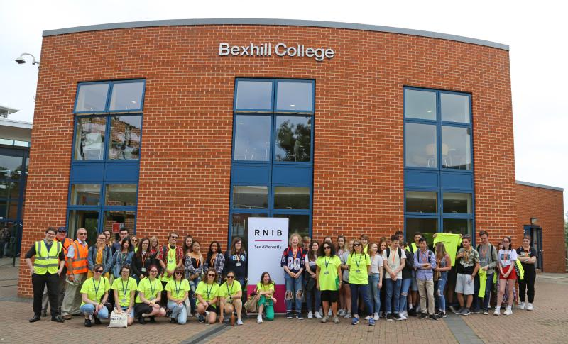 Bexhill College's Sponsored Walk for the RNIB
