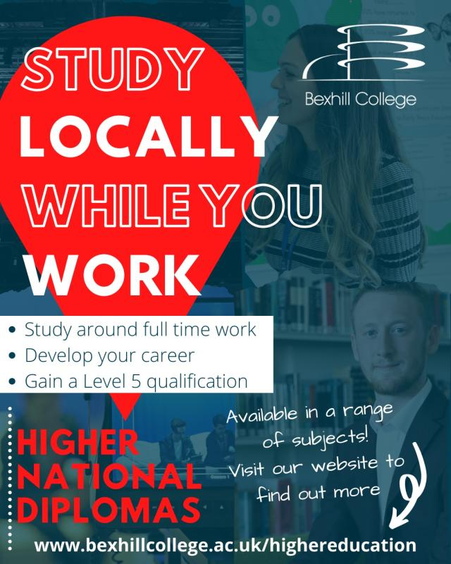 Looking to further your career, why not study for a higher-level qualification locally?