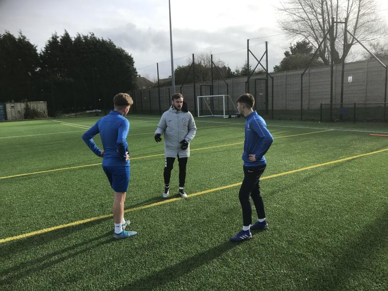 Former Student/ Professional Football Player works with Football Academy