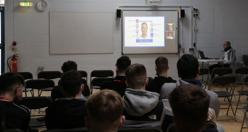 Joe Cole careers talk at College