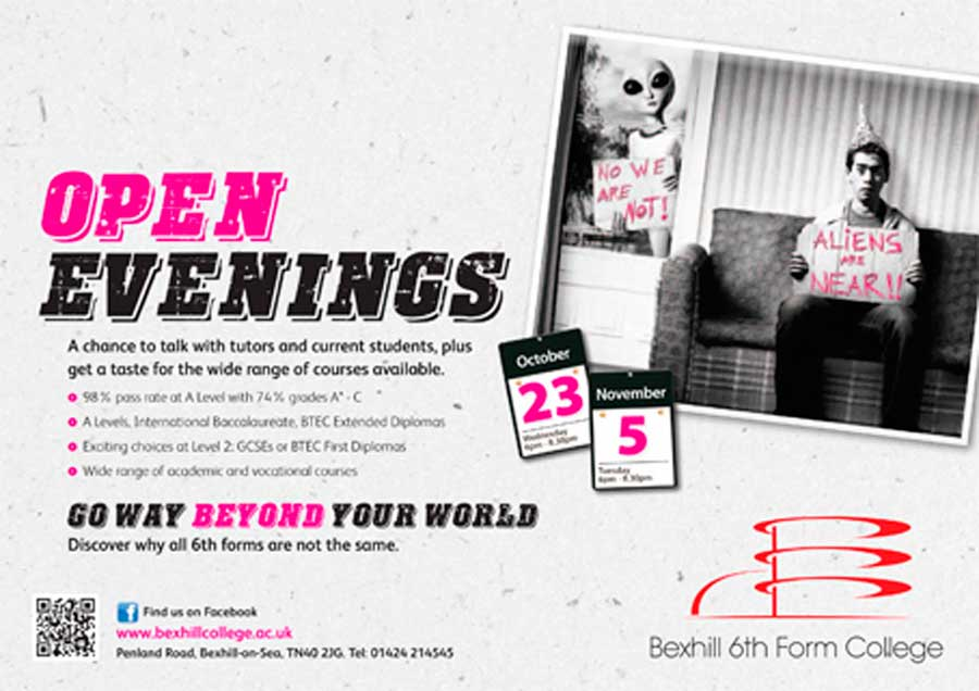 Open Evenings - Wednesday 23 October and Tuesday 5 November