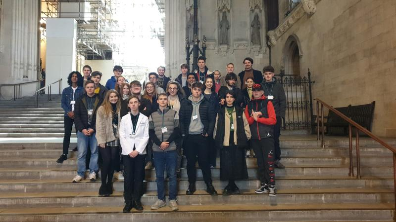 Politics students visit the Palace of Westminster