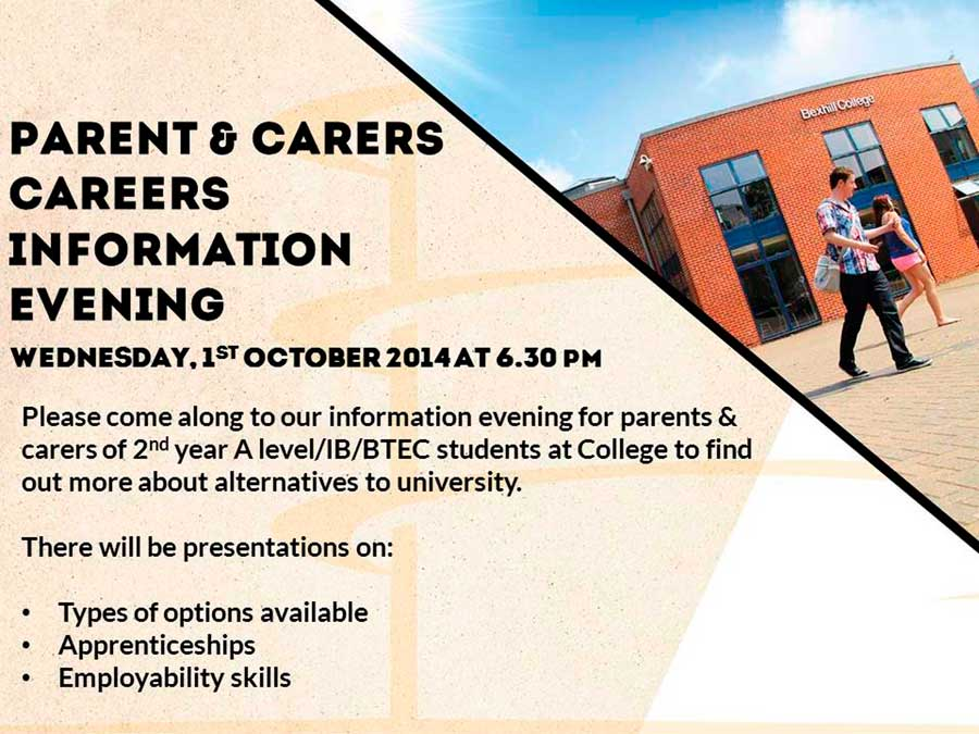 Parents and Carers' Careers Information Evening