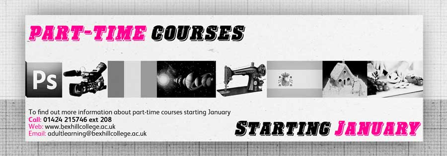 Part-time courses Starting January