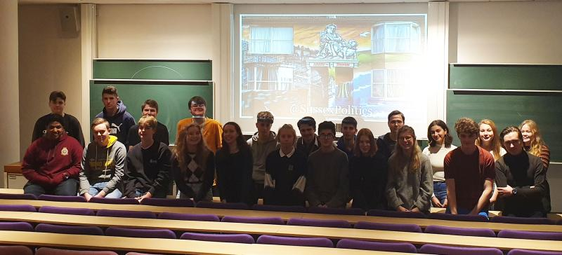 Politics students attend masterclass at the University of Sussex
