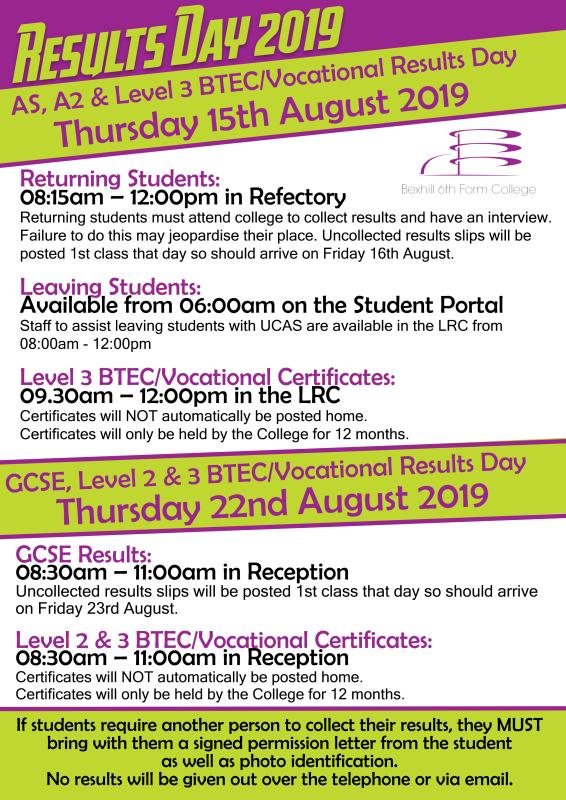 Results Day Information