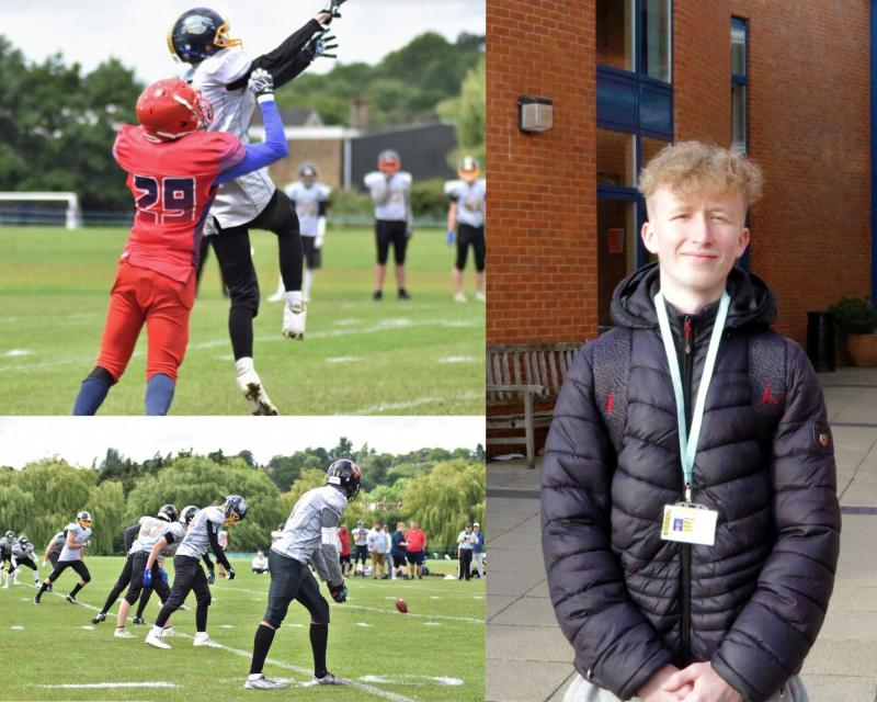 American Football Success for Bexhill College Student