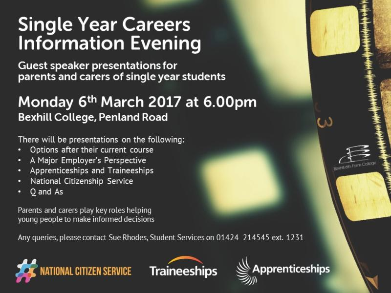 Single Year Careers Information Evening