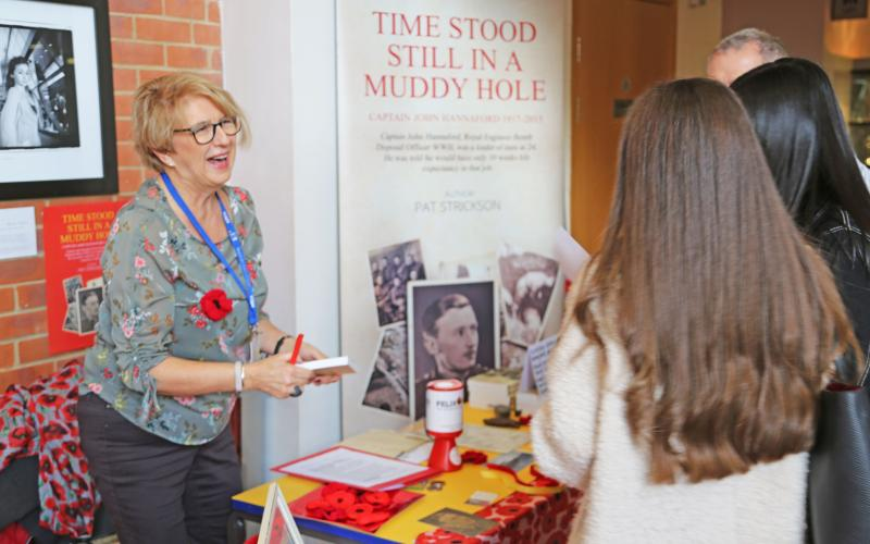 Pat Strickson Shares WWII Bomb Disposal Officer Story With Bexhill College