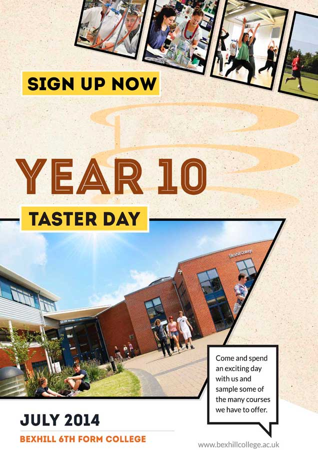 Sign up now for Year 10 Taster Days