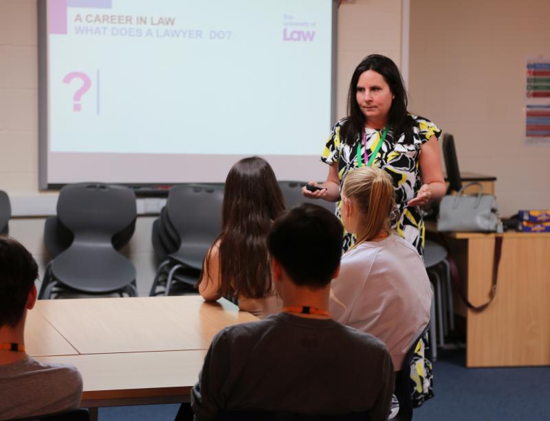 Guest speaker from the University of Law delivers insightful workshop