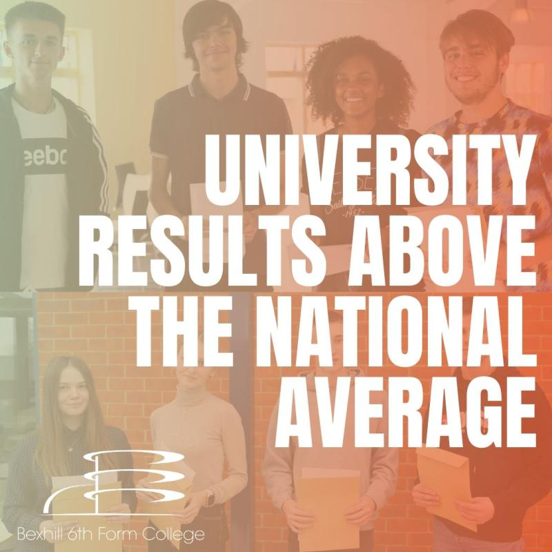 Bexhill College Students Achieve University Results Higher than National Average