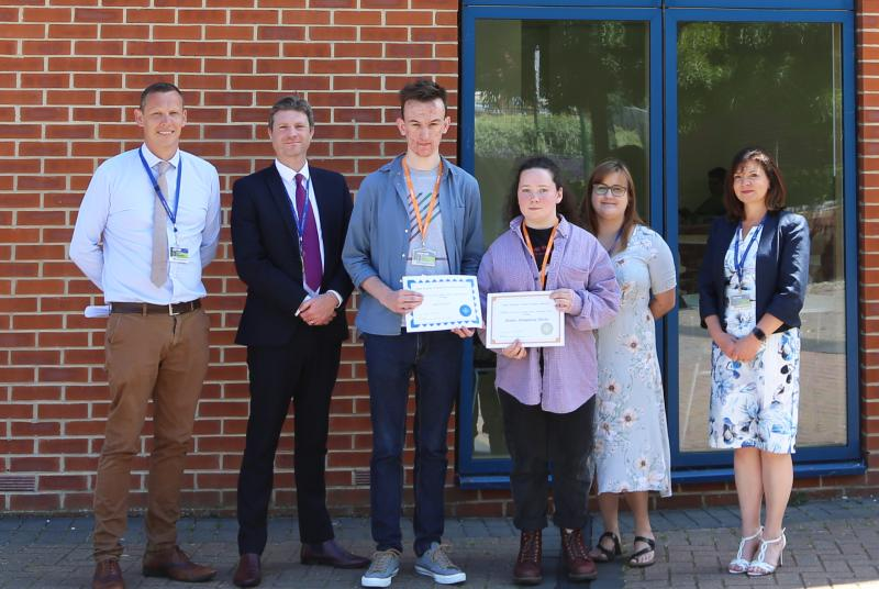 Bexhill College Politics and Economics students achieve first place in regional essay competition