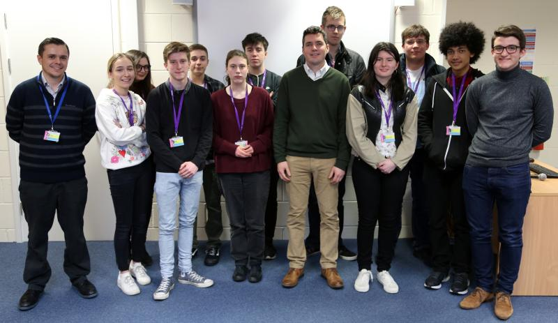 Huw Merriman debates with Bexhill 6th Form College students
