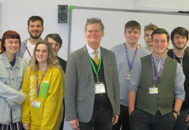 MP Stephen Lloyd visits Bexhill College