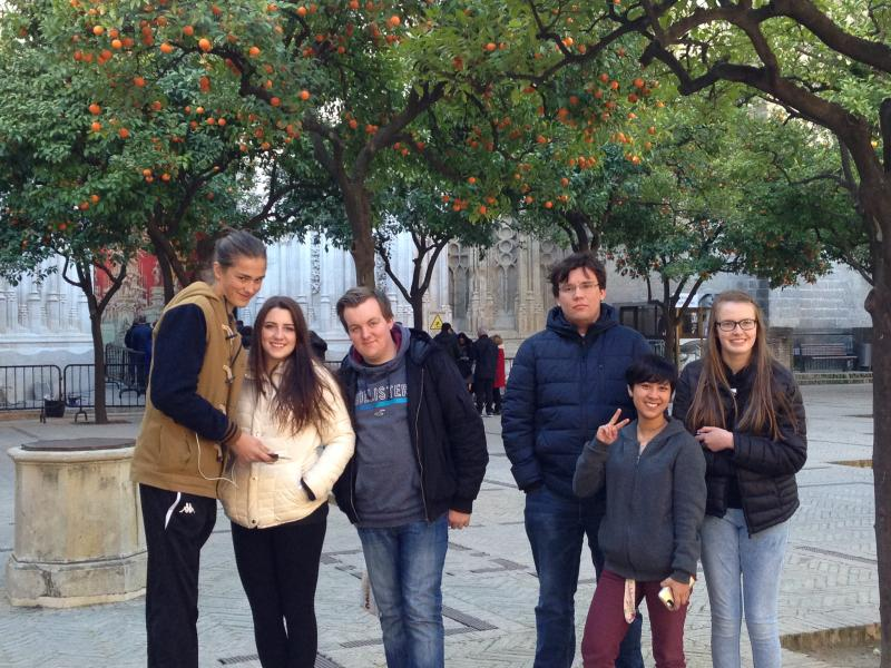 "Students say ""Hola"" to Seville"