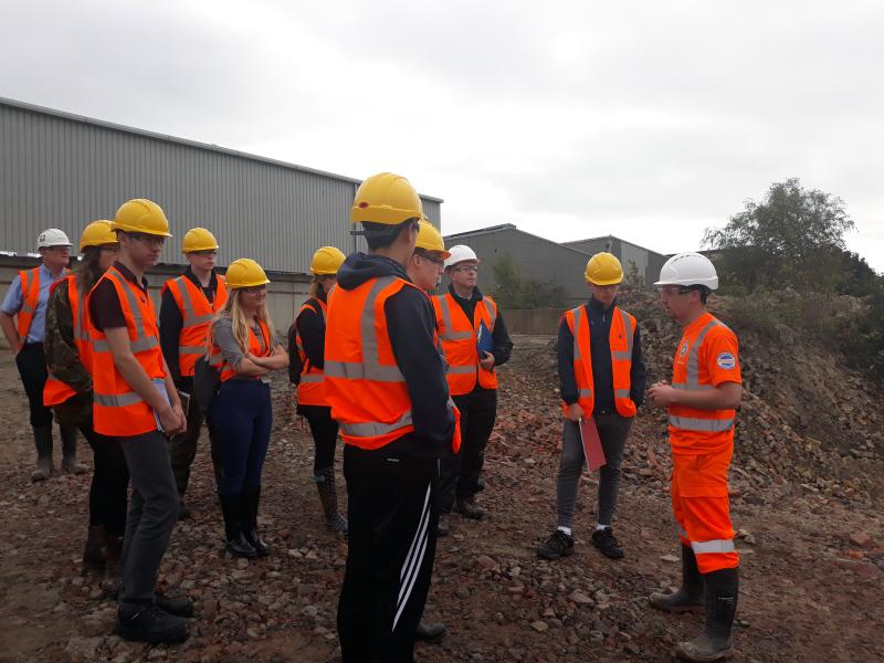 Geology & Environmental Sustainability Students Visit Ibstock Ashdown Quarry