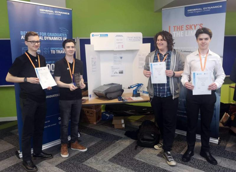 Bexhill College students win award for robot