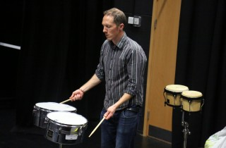 Ollie leading the Samba Workshop
